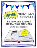 3 Interactive Summary Flip Books: Perfect for Interactive Notebooks