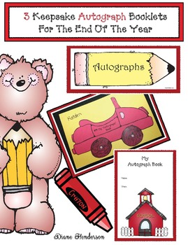 3 Keepsake Autograph Booklets For The End Of The Year