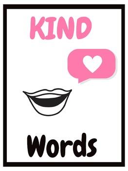 3 Kind Classroom Management Kind Hands, Kind Hearts, Kind Words Posters