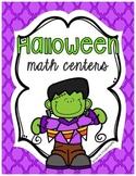 3 Kindergarten Halloween Math Centers
