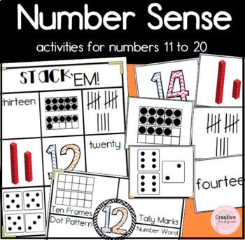 3 Kindergarten Number Activities to Practice Number Sense for Teen Numbers