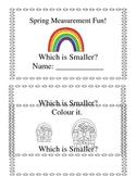 3 Kindergarten Spring Measurement Booklets