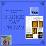 3 Kings Crown Template - FREE