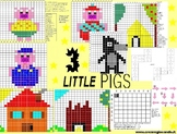 3 LITTLE PIGS,  CODING AND PIXEL ART LABORATORY, 11 PAGES