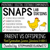 3-LS3-1 Parent vs. Offspring Lab Stations Activity