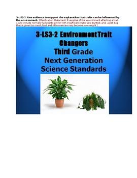 3 LS3-2 Environment Trait Changers