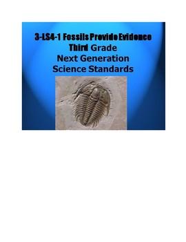 3 LS4-1 Fossils Data Webquest