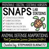 3-LS4-2 Animal Defense Adaptations Lab Stations Activity