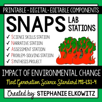 3-LS4-4 Impact of Environmental Change Lab Stations Activity