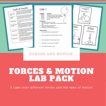 3 Lab Packet on Forces and Motion
