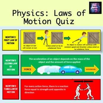 3 Laws of Motion Quiz