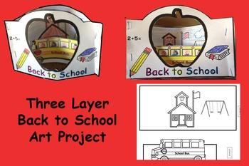 3 Layer Back to school Art Project Scene