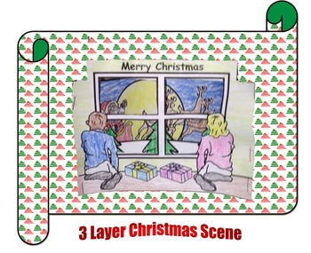 3 Layer Christmas scene