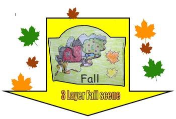 3 Layer Fall Scene