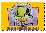 3 Layer Halloween Scene