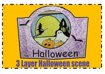 3 Layer Halloween Scene
