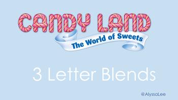 3 Letter Blend Candy Land -Orton Gillingham
