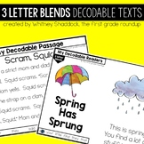 3 Letter Blend Decodable Readers and Passages