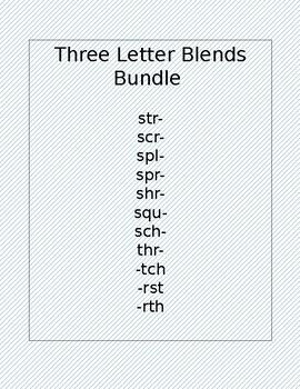 3 Letter Blends Flashcards