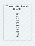 3 Letter Blends Flashcards