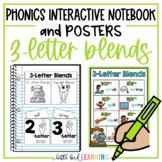 3-Letter Blends Interactive Notebook Activities and Posters