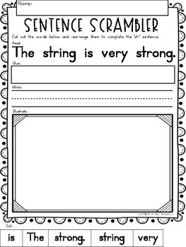 "3 Letter Blends ""STR"" Phonics Literacy Printables Trigraphs"