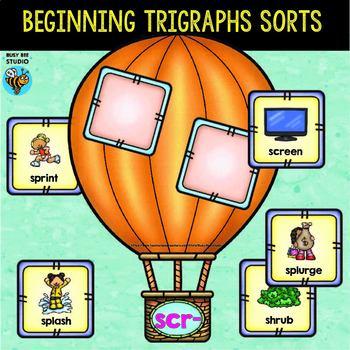 3 Letter Blends (Trigraphs) Sorts