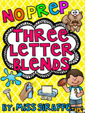 3 Letter Blends Trigraphs Worksheets & Activities {NO PREP!}