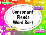 3 Letter Consonant Blends Word Sort {Differentiated} + Seat work