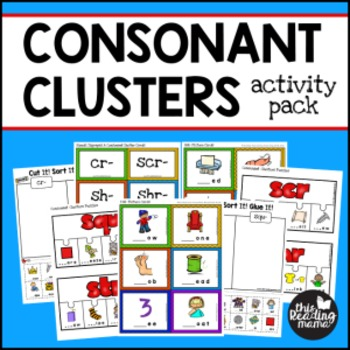 3-Letter Consonant Clusters Activity Pack