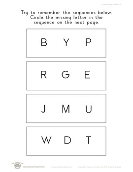 3 Letter Missing Sequence