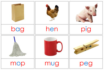 Phonetic Picture Cards - Level 1
