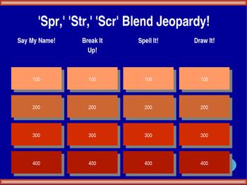 3-Letter S-Blend Jeopardy!