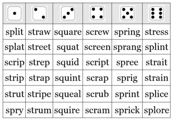 3 Letter S-Blends Game and Quick Check Assessment