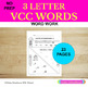 3 Letter VCC Words Word Work