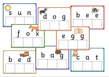3 Letter Word Card and Letter Match