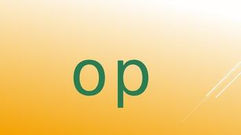 3-Letter Word Families slides for vowel sound O