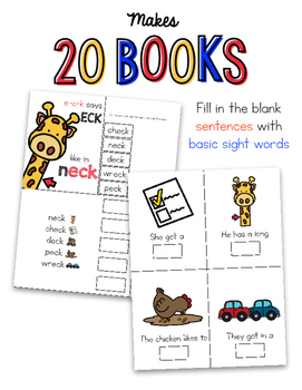 3-Letter Word Family Adapted Books + Posters