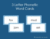 3 Letter Word Phonetic Word Cards