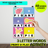 3 Letter Words Binder | CVC Words | Short Vowels Worksheets FUN & EASY