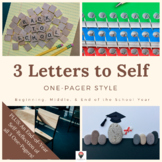 3 Letters to Self: One-Pager Style (Year-Long Courses)