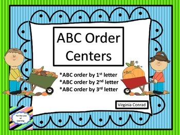 ABC Order---Fall Centers