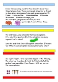 3 Levels of maths problems - fractions grades 3-5