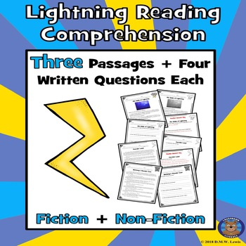 Lightning Reading Comprehension: Lightning Strikes: Spring & Summer Reading
