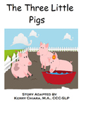 3 Little Pigs Adapted Color Book, Printable BW and Worksheets (Autism, Speech)
