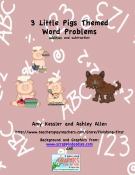 3 Little Pigs Addition and Subtraction Common Core Word Problems