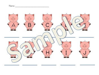 3 Little Pigs BIg Bad Wolf Subtraction walk the room