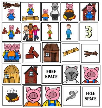 3 Little Pigs Bingo