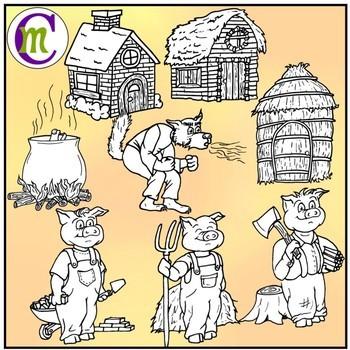 3 Little Pigs Clipart