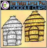 3 Little Pigs Clipart | Straw House